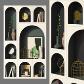 Bookcase Bonaldo set 01