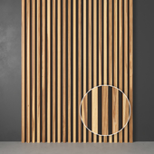 Wooden slats from solid ash