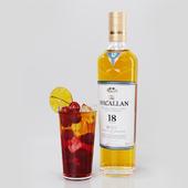 Cherry whiskey smash socktail