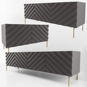 Decorative Chevron Console Anthrazit