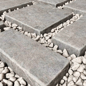 Paving and pebble / Pebble paving