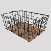 Wire basket with handle