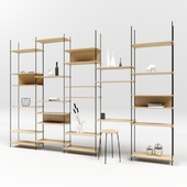 Shelving system by moebe