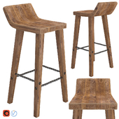 West elm Hewn Wood Bar Stool