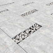 Paving title pebble / Paving slabs with pebbles