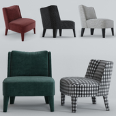 Small armchairs Cecile and Isabelle by Meridiani