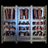 Shelves with meat 2