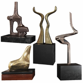 Abstract Sculptures set by Burlini Varga