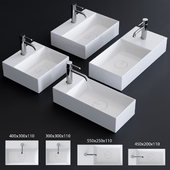 Alice Ceramica Spy Washbasin Set 1