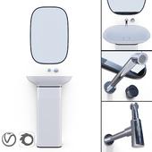 PURE Krion/ESPEJO PURE NEGRO/Bathroom Taps TONO/Siphon Noken