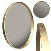 KARE Mirror Curve Round Brass 100cm (vray NEXT)