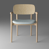 """Chair """"Mild"""" with a wooden back"""