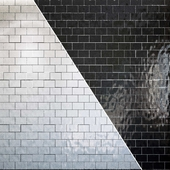Tiles set Geometry Pattern White and Black