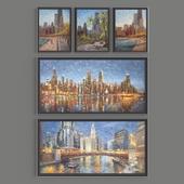 картины художника  E. J. Paprocki. серия CHICAGO CITYSCAPES (21 картина)