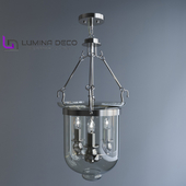 """OM"" Pendant lamp Lumina Deco Leo chrome LDP 6116-3-CHR"
