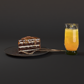 cake and juice