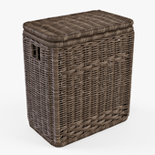 Laundry basket 008 / brown color
