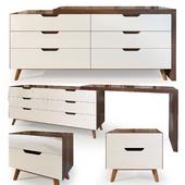 Комод и тумба, Karen  imodern . Dresser, nightstand