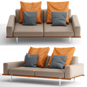 Sofa Poltrona Frau / Let It Be 2 seater with low armrests