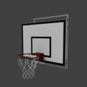 Basketball backboard with basket