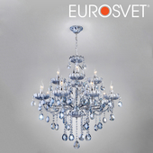 OM Chandelier with tinted crystal Eurosvet 3015/12 Darfina