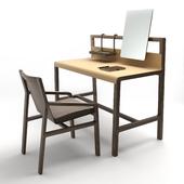 Alivar Scribe desk and Ester chair