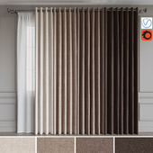 A set of curtains on the rings 18. Beige range