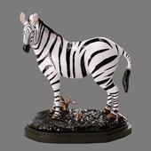 decorative zebra figurine