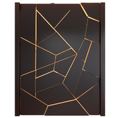Decorative wall panel with lighting 04