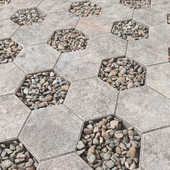 Pavin pebble hexagon / Брусчатка шестиугольная с галькой
