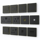 Scneme crystal wall switches & sockets