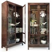 Шкаф / витрина Jason Glass Door Cabinet .Hickory White