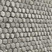 Rock stone wall hexagon / Скальная стена из шестиугольников