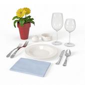 Сервировка стола для ресторана в Майами