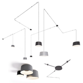 VIBIA TUBE modular pendant and ceiling system