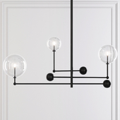 Restoration Hardware Glass Globe Mobile CHANDELIER 46 Black