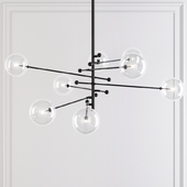 Restoration Hardware Glass Globe Mobile 8-ARM CHANDELIER 79 Black