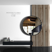 Wooden planks and mirror