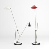 Equilibrium Double-Branch Floor Lamp by Pierre Guariche