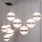 Restoration Hardware HEMISPHERE 5-LIGHT LINEAR CHANDELIER Nickel