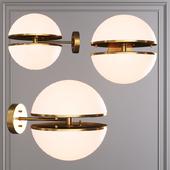 Restoration Hardware HEMISPHERE WALL LAMP SCONE Brass