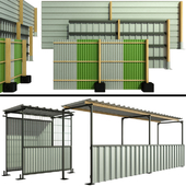 Protective security fencing of construction sites, fence