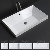 Scarabeo Ceramiche Teorema 2.0 Built-in Washbasin