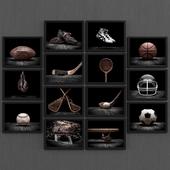 Set of vintage sport