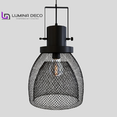 """OM"" Hanging lamp Lumina Deco Fratton black LDP 007-L"