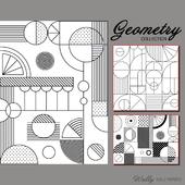 Wallpaper Wally - Geometry BW