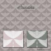 Wallpaper Wally - Swans Swans