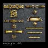 Classic kitchen furniture handles