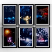 Posters: Night New York, Central Park.