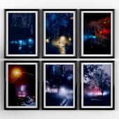 Постеры: Ночной New York, центральный парк.